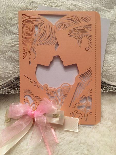"Hochzeits-Karten ""Rosen"", 3D, 1 Stück"