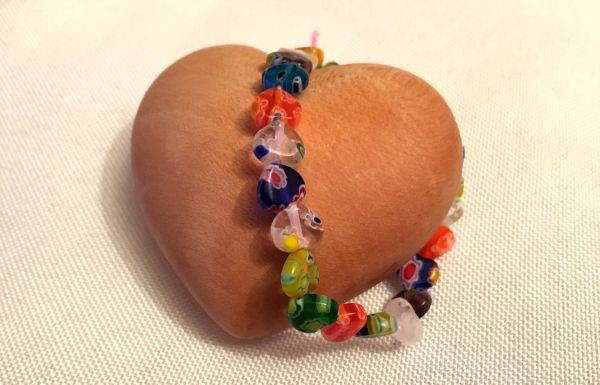 Perlen-Armband Herzchen