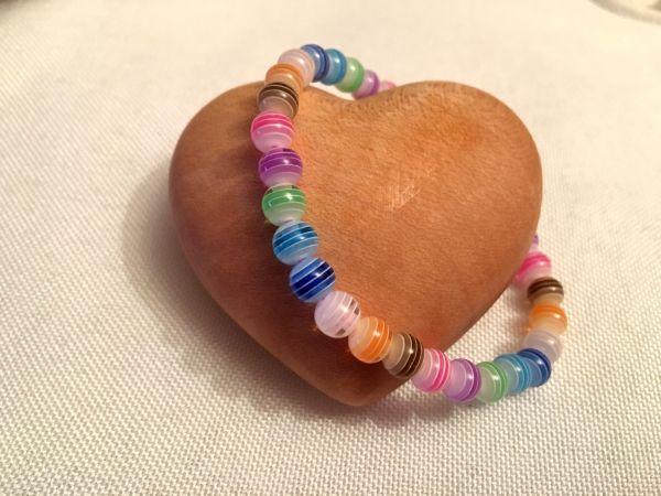 Perlen-Armband bunt