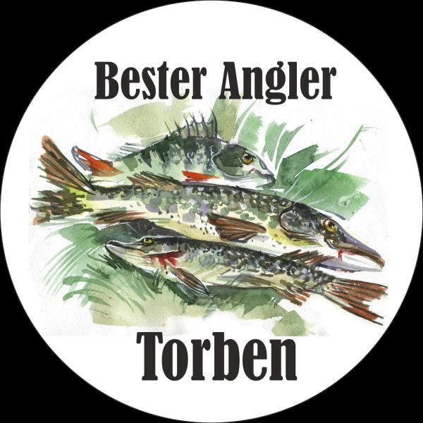 Tortenaufleger Angler