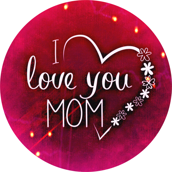 "Tortenaufleger ""I love you MOM"""